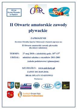 II Otwarte amatorskie zawody pływackie-ZAPRASZAMY!